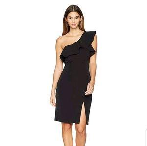 Bardot womens petite ruffle dress Large